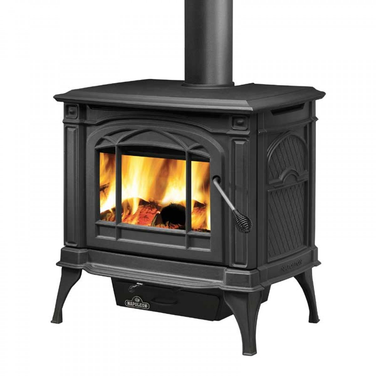Napoleon 1100cp 1 cast iron wood burning stove metallic Wood burning stoves
