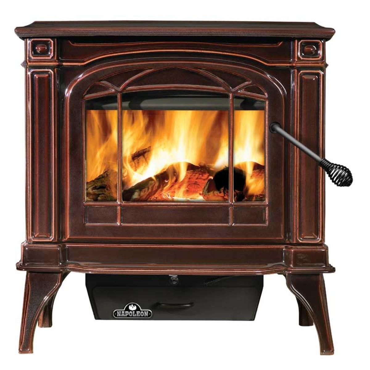 napoleon 1100c banff cast iron wood burning stove at