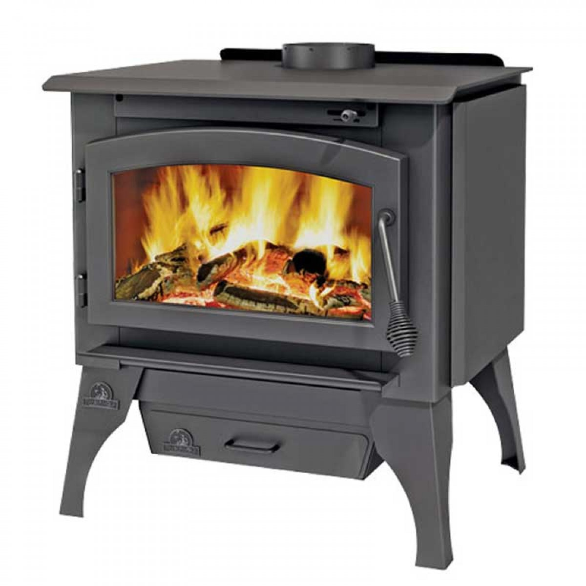 Napoleon Timberwolf Economizer 2100/2200 Wood Burning Stove c/w door  painted black - Timberwolf Economizer 2100/2200 Small Wood Burning Stove C/w Door