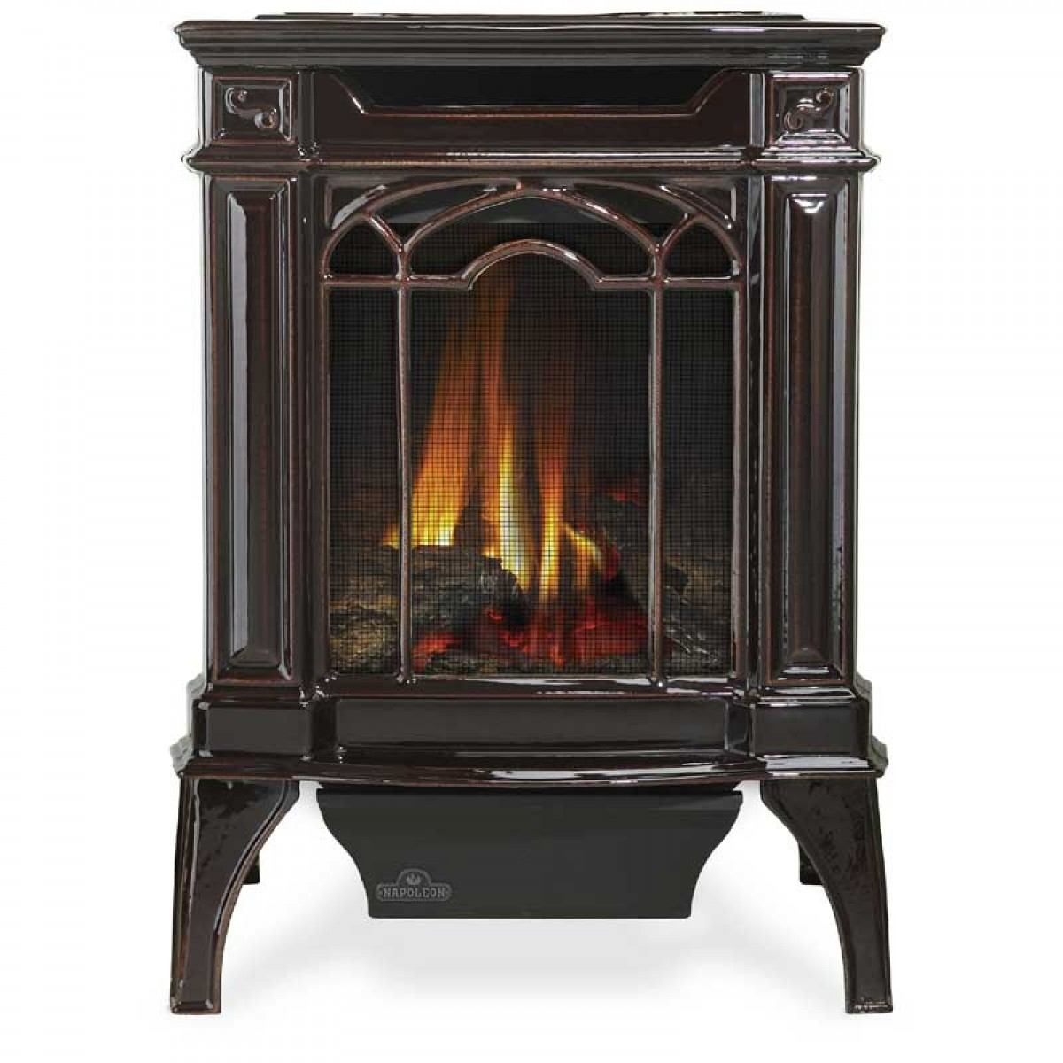 Napoleon Gds20n Arlington Cast Iron Natural Gas Stove Painted Black At Ibuyfireplaces