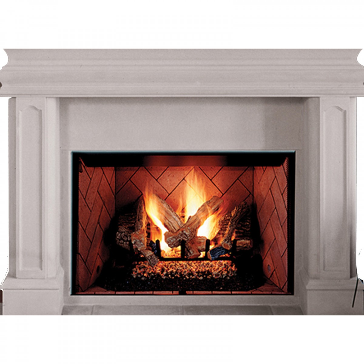 Ihp Superior Brt4542ten B 42 Quot Ng Fireplace W White Hrgbn Pnls