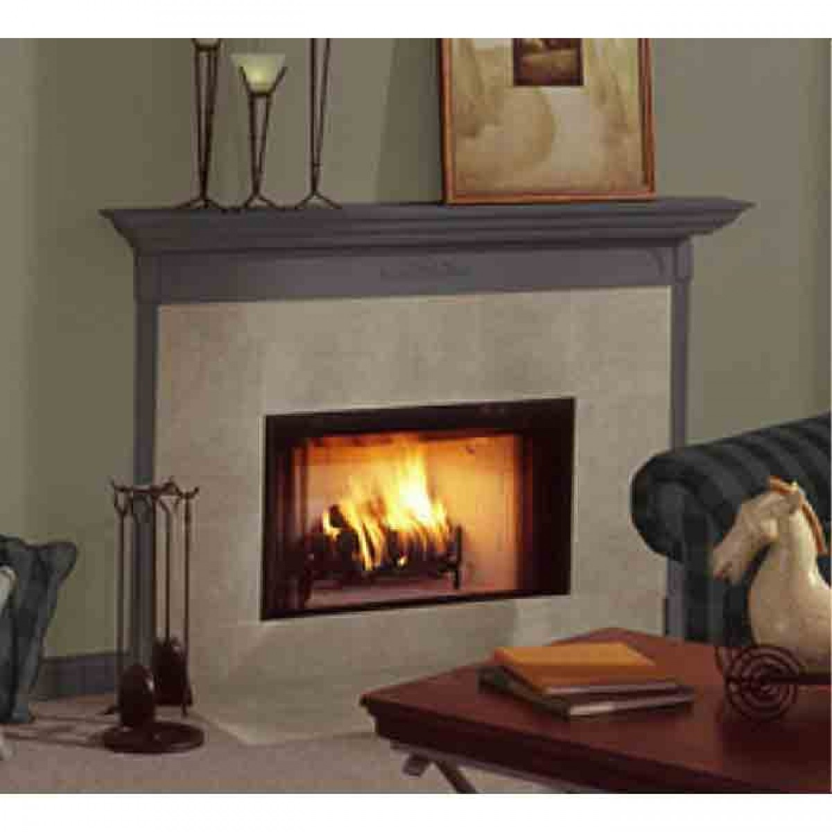 Majestic Bcbv36i Builders Choice Open Hearth B Vent Gas Fireplace Radiant Intellifire Ng At
