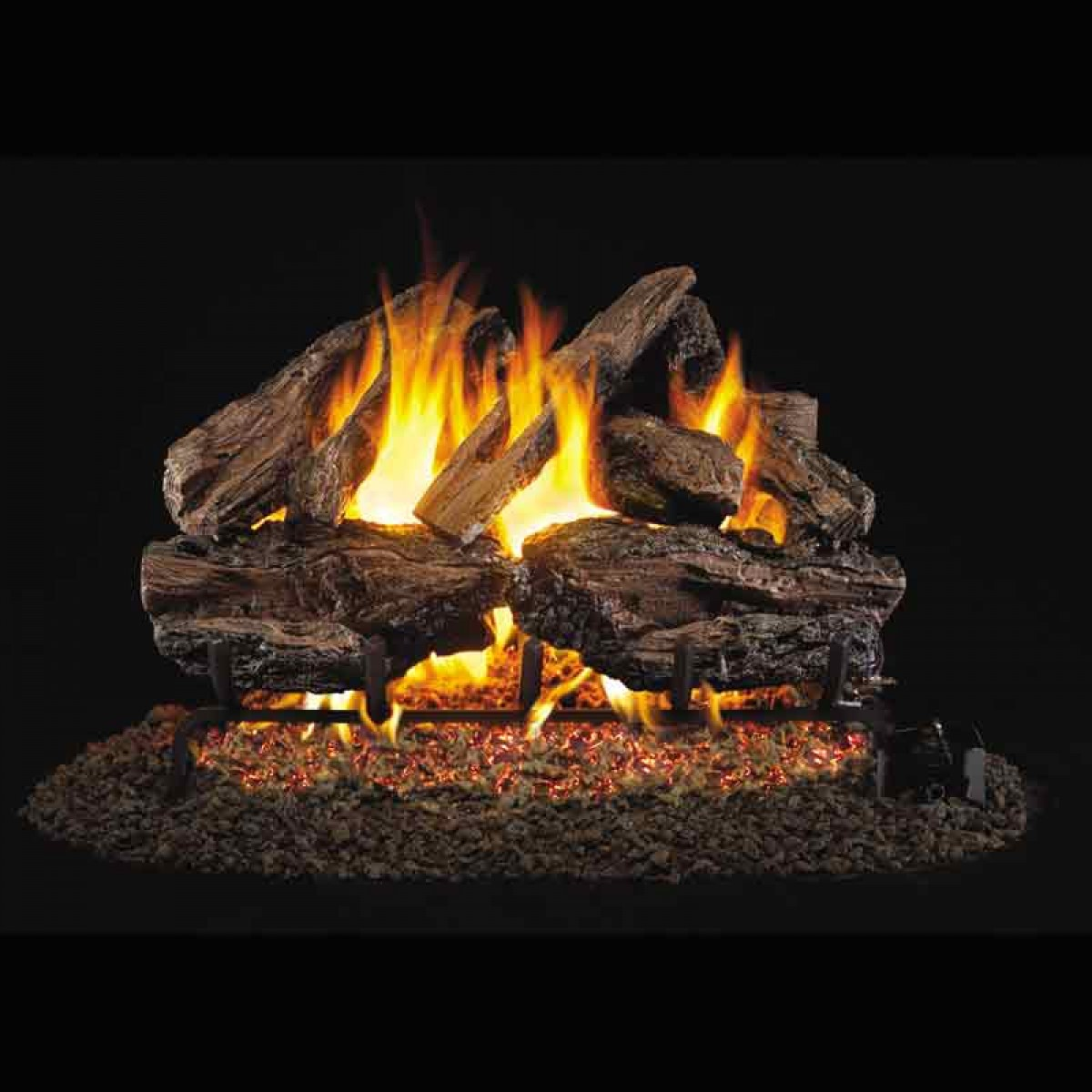Real Fyre Charred Red Oak Chred 24 24 Quot Vented Gas Logs Set