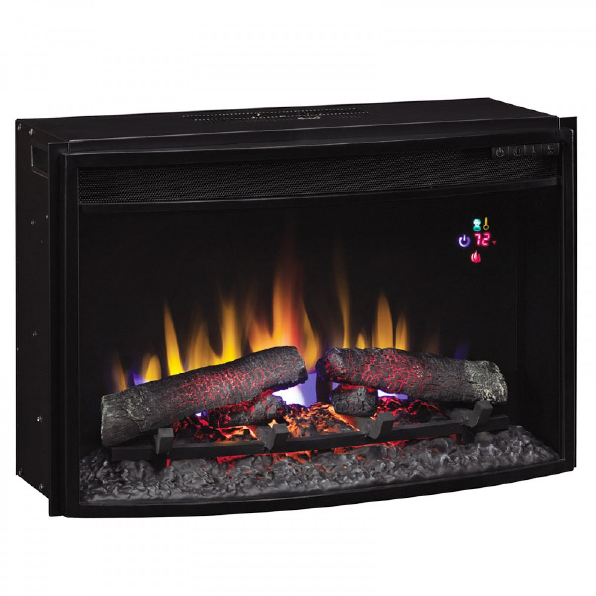 Classic Flame 25ef031grp 25 Curved Spectrafi Plus Electric Insert With Safer Plugat Ibuyfireplaces