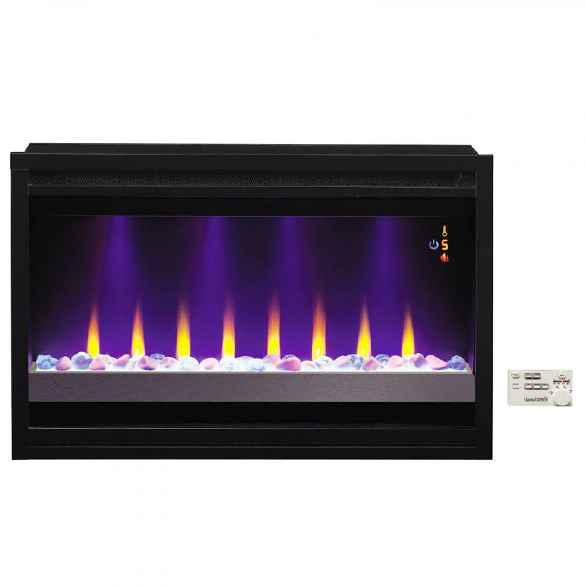 Classic Flame Pro 36eb221 Grc 36 Black Contemporary Builders Box At Ibuyfireplaces