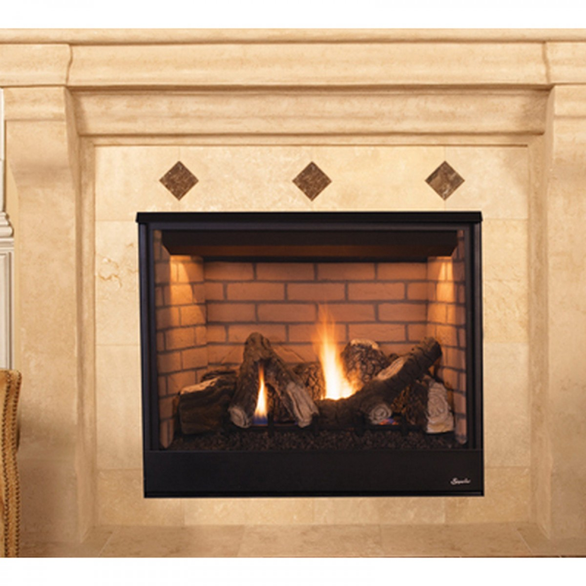 ventless vent hearthsense fireplace model product percent b energy are heating efficient procom as