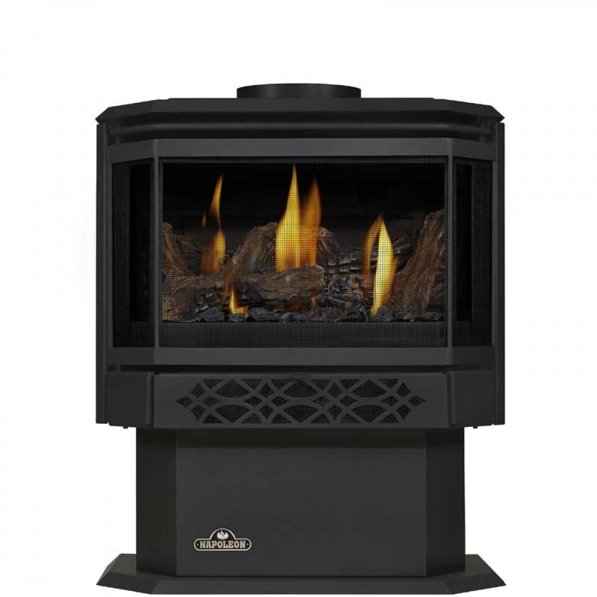 Napoleon gds28 1nsb haliburton dv pedestal natgas stove at for Fireplace options