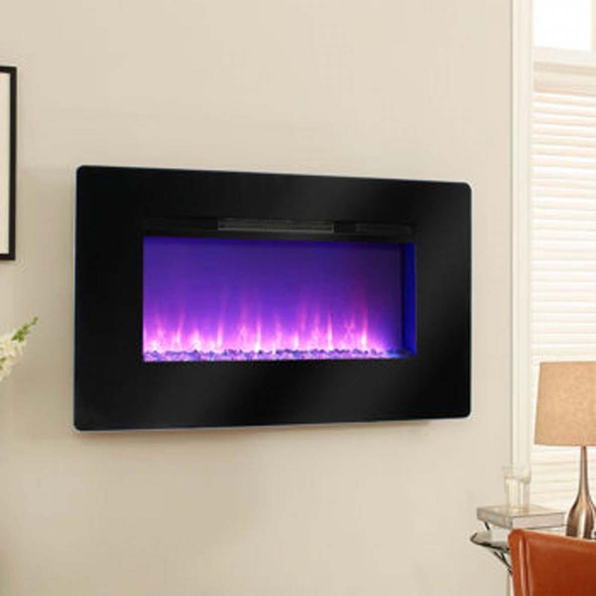 wall mounted electric fireplace stainless steel 281334 wall mount
