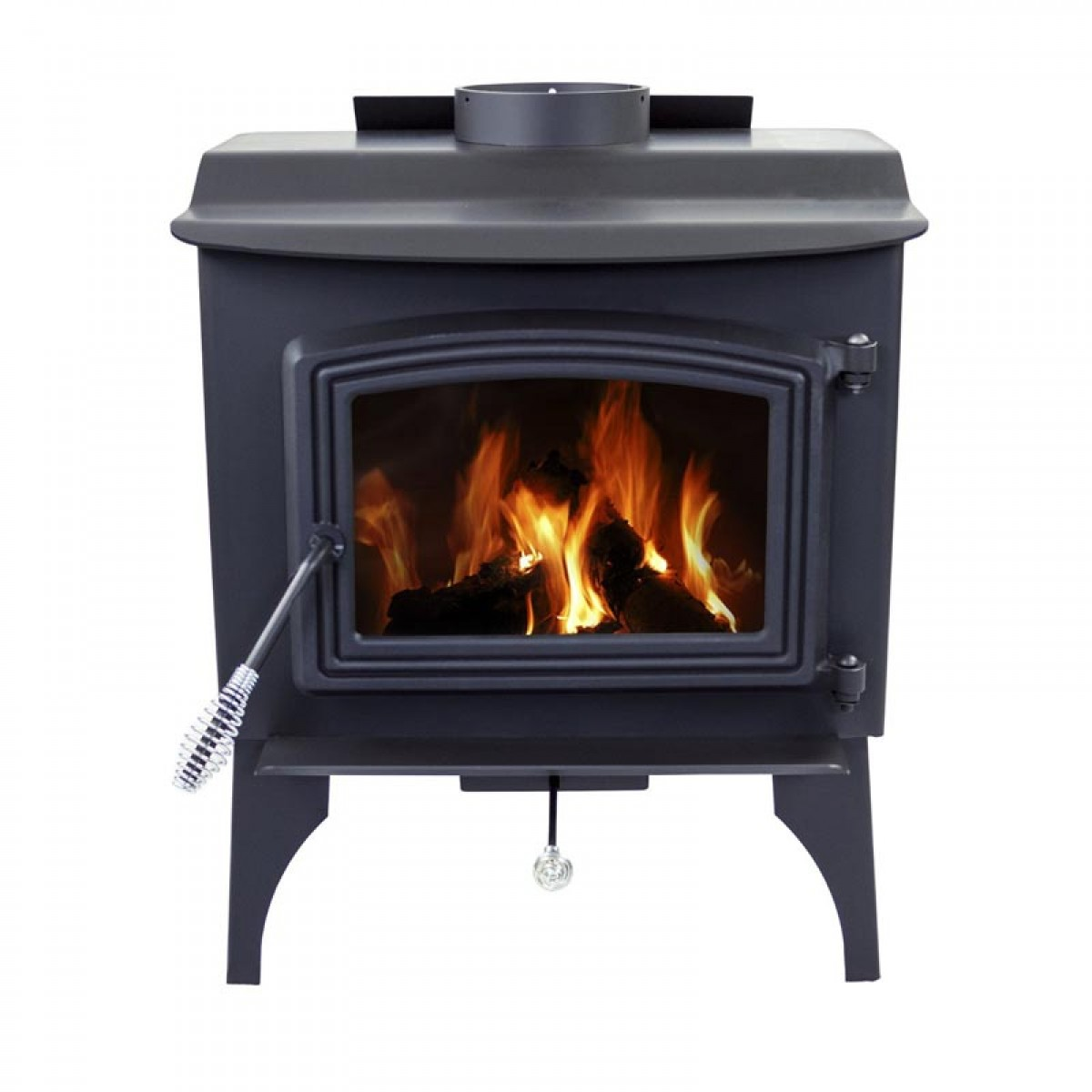Pleasant hearth small wood burning stove with legs ws 2417 Wood burning stoves