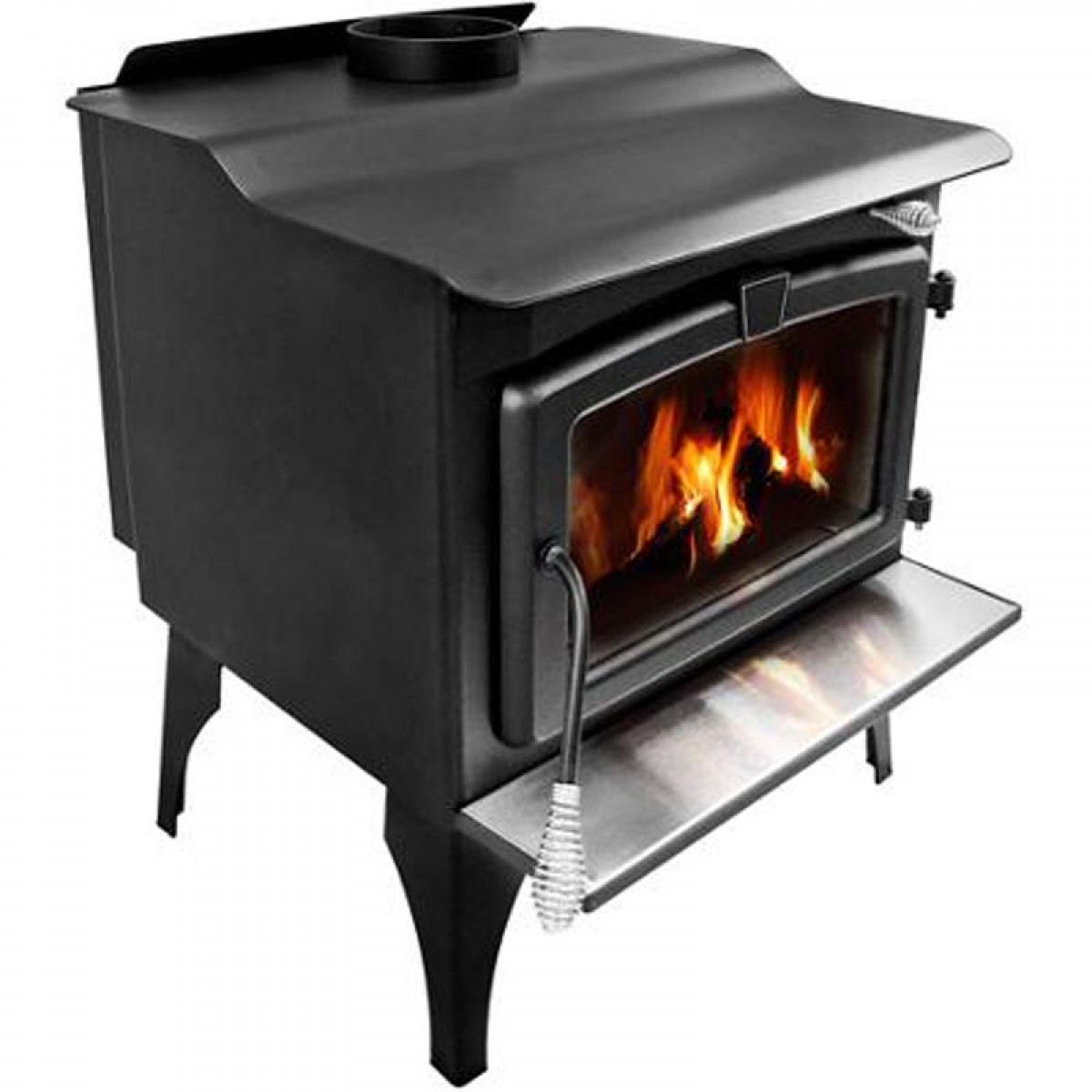 Pleasant Hearth Medium Wood Burning Stove With Legs Lws 12720
