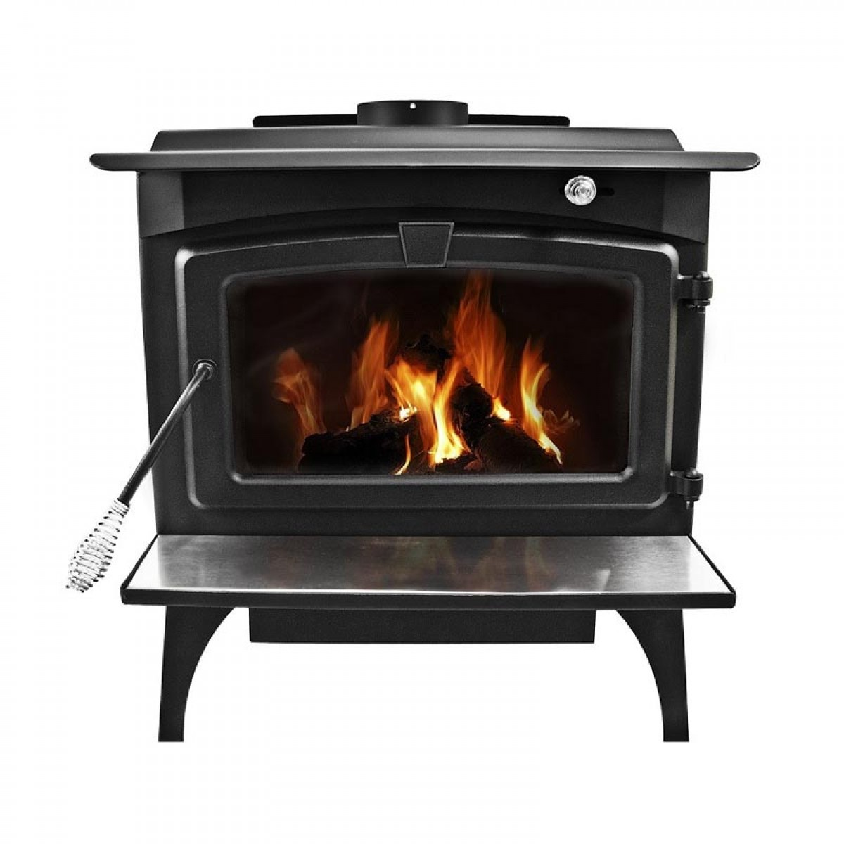 Pleasant Hearth Large Wood Burning Stove With Legs Lws 130291