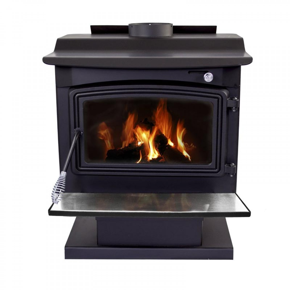 Pleasant Hearth Large Wood Burning Stove With Pedestal