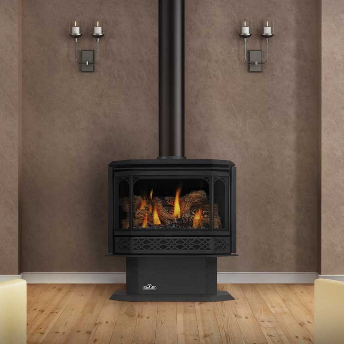 Napoleon Havelock Direct Vent Gas Stove W Safety Barrier
