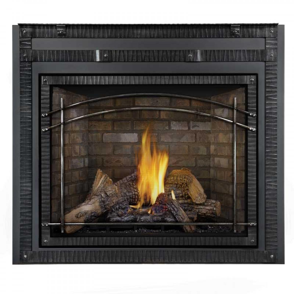 Napoleon Hdx40nt 1sb Direct Vent Top Natural Gas Fireplace W Black Door At Ibuyfireplaces
