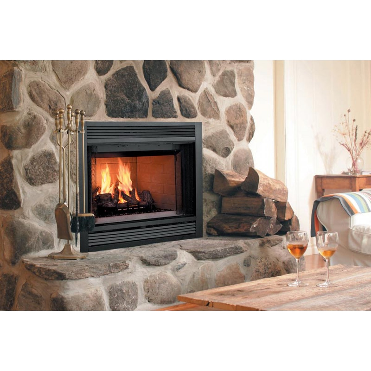 """Fireplace Doesnt Heat: Majestic SA42C Sovereign 42"""" Heat Circulating Wood Burning"""