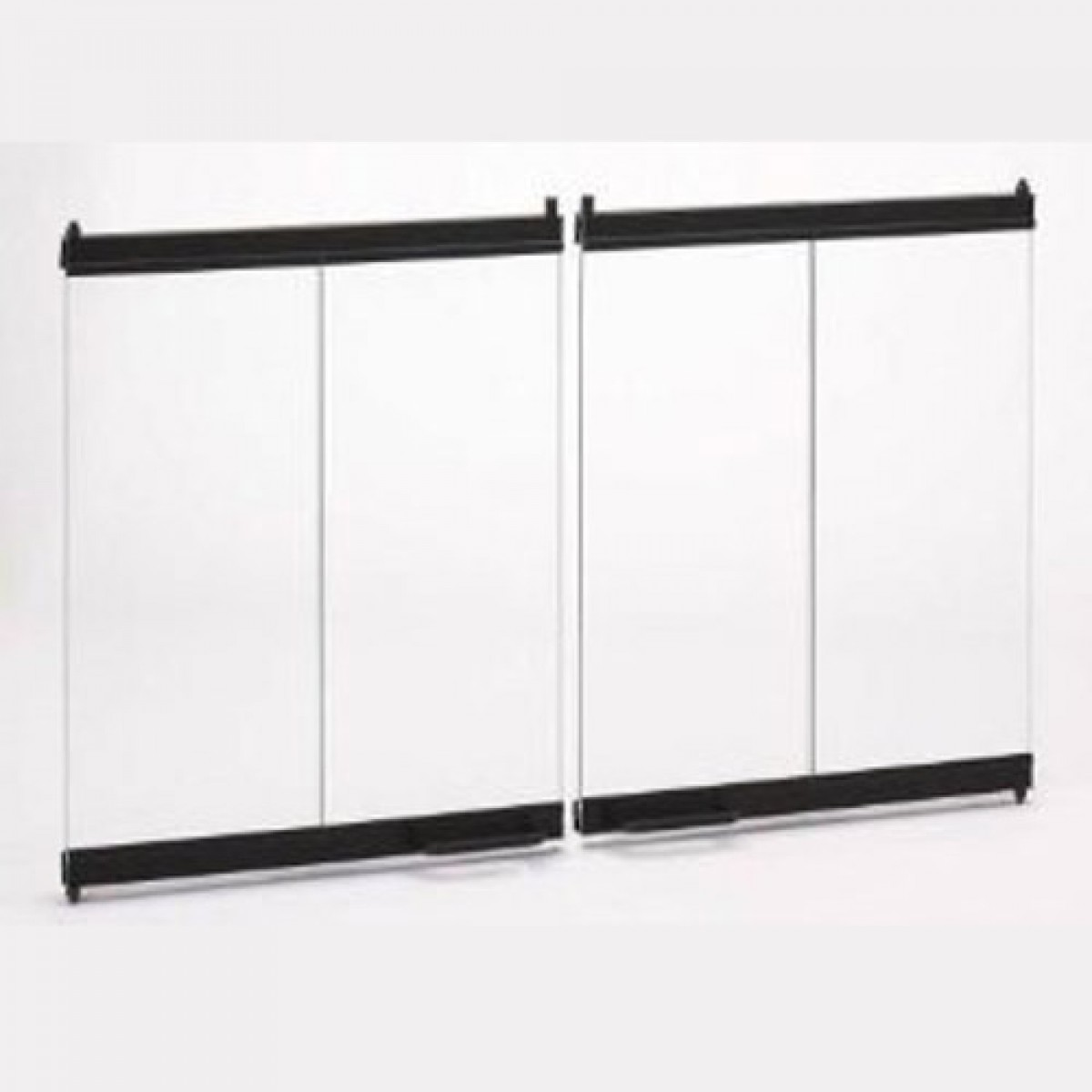 Majestic DM100 Original Bi Fold Glass Doors Black W/ Black Trim SB100