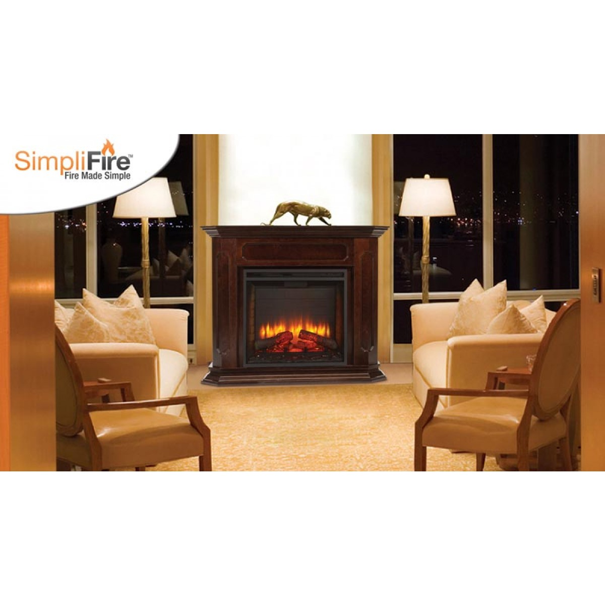 Majestic Sf Bi36 E 36 Built Intraditional Style Electric Fireplace