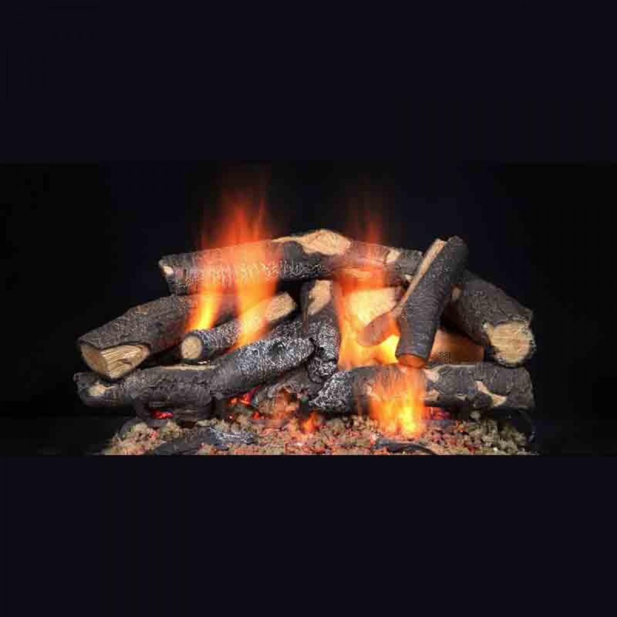 Majestic Fireside Supreme Oak Refractory Cement Log Set