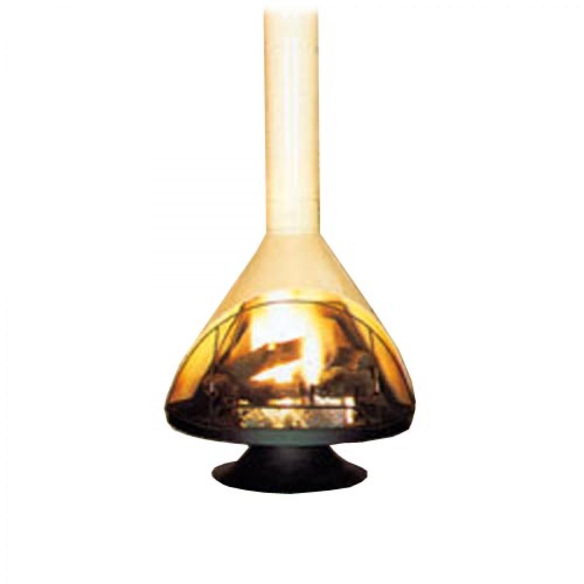 Malm Zircon 30 Inch Wide Wood Burning Porcelain Almond