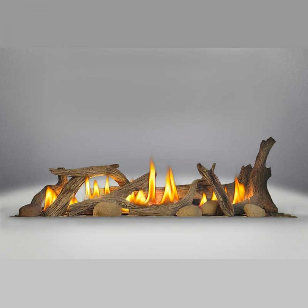 napoleon dl45 driftwood log set includes log set u0026 6 river rocks