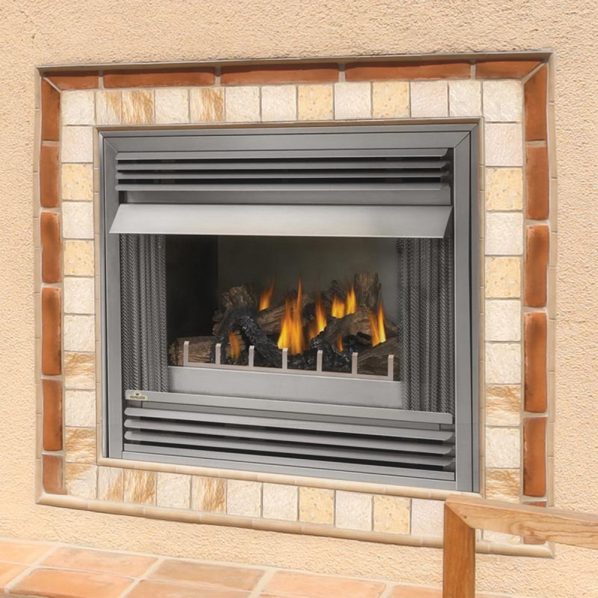 napoleon gss36n outdoor natural gas fireplace at ibuyfireplaces. Black Bedroom Furniture Sets. Home Design Ideas