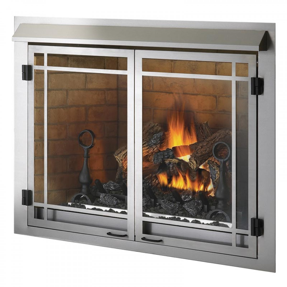 Wood Glass Fireplace Doors : Napoleon gss n outdoor natural gas fireplace at