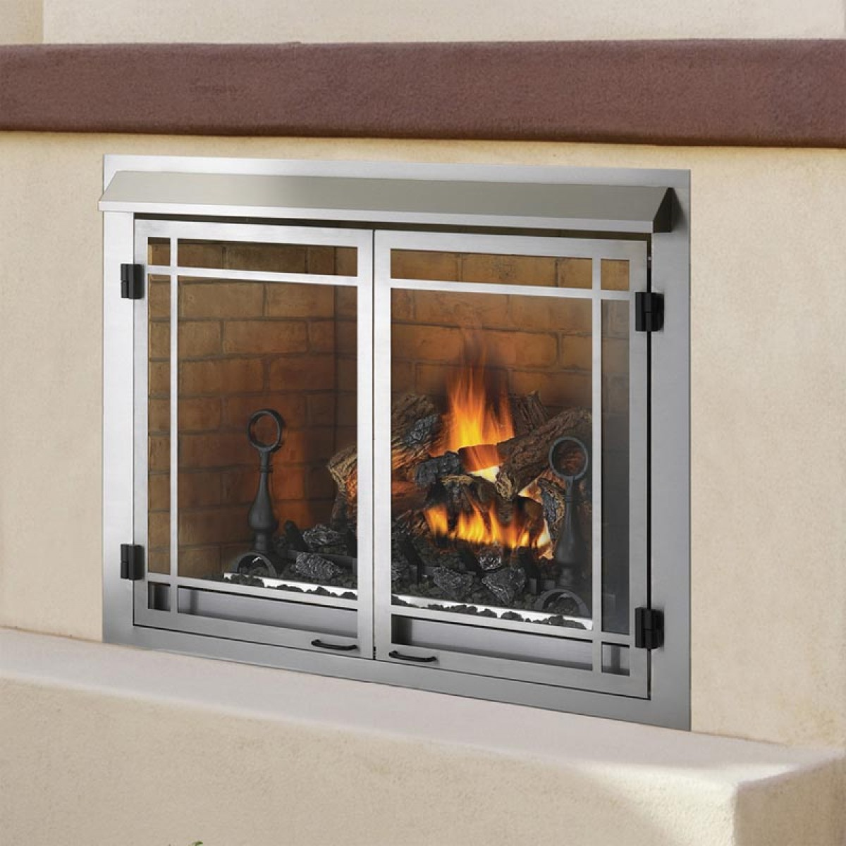 napoleon gss42n outdoor natural gas fireplace at ibuyfireplaces. Black Bedroom Furniture Sets. Home Design Ideas