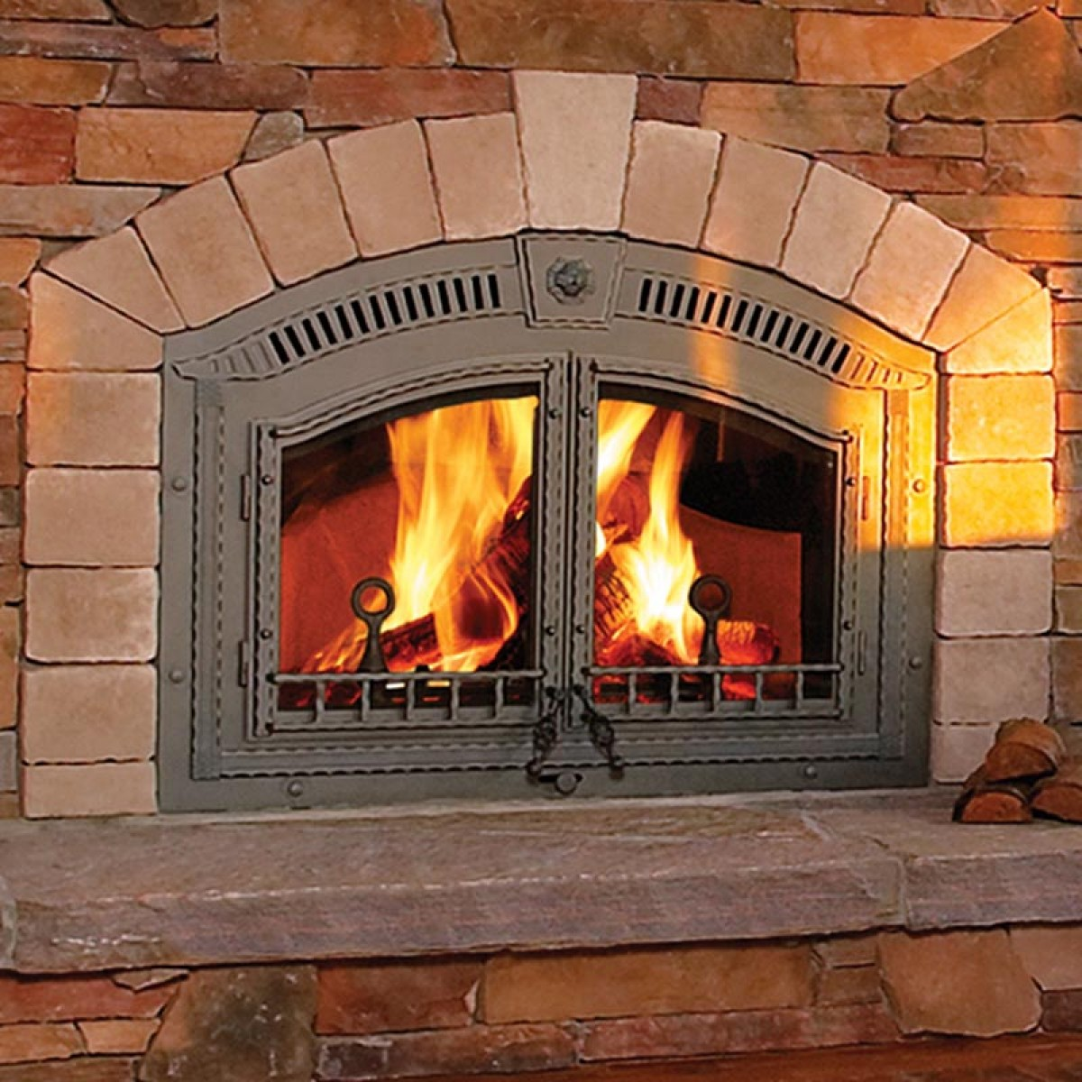 Napoleon NZ6000 High Country wood burning fireplace at ...