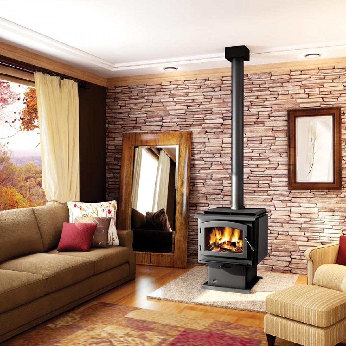 Timberwolf Economizer 2300 Large Wood Burning Stove C W