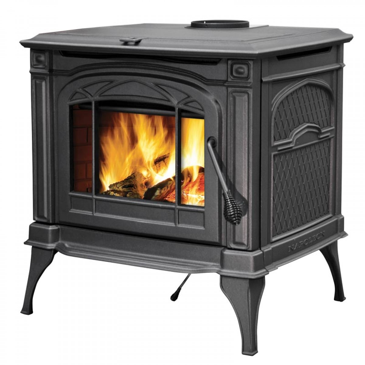 Napoleon 1400c Cast Iron Wood Burning Stove At Ibuyfireplaces
