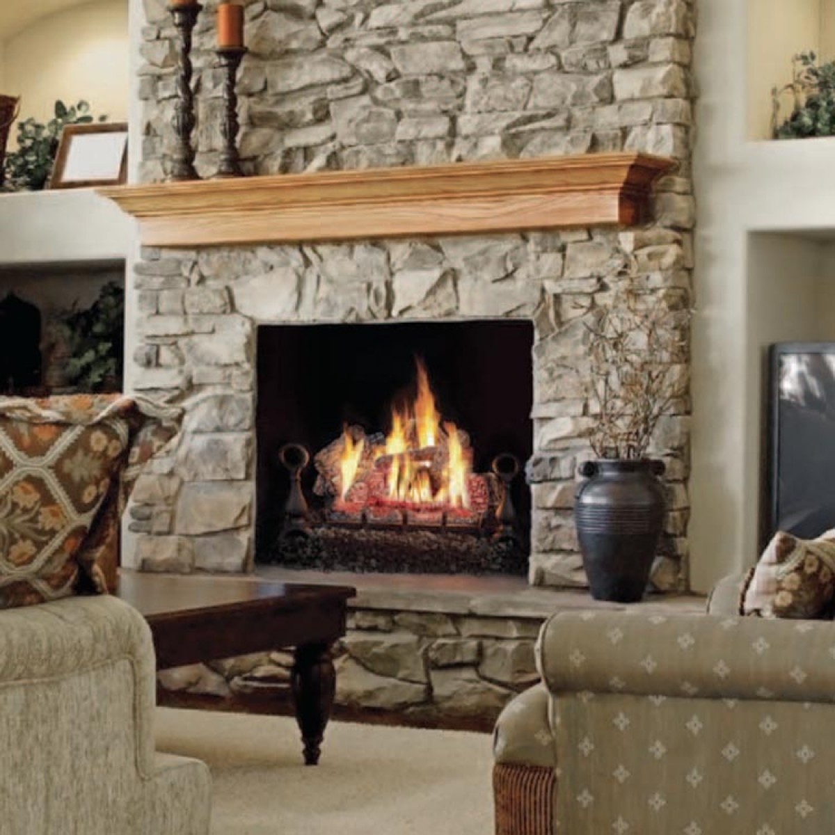 "Napoleon GVFL24N Vent Free Natural Gas 24"" Log set at"