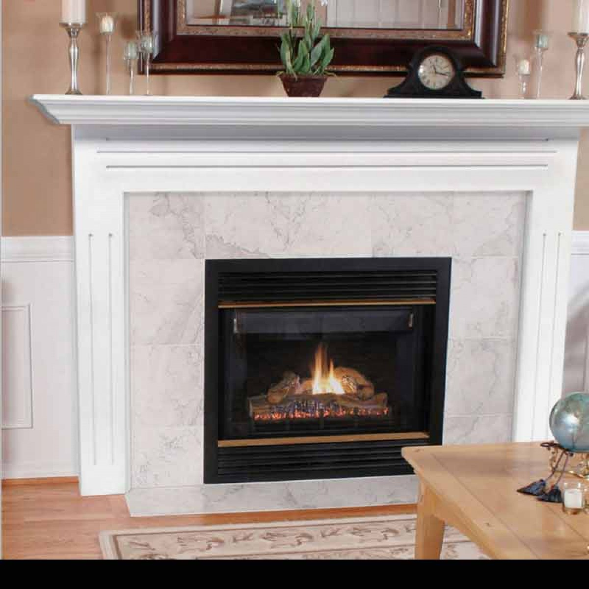 Pearl Mantels Avondale Fireplace Surround: Pearl Mantels 510-48 The Newport Fireplace Mantel At