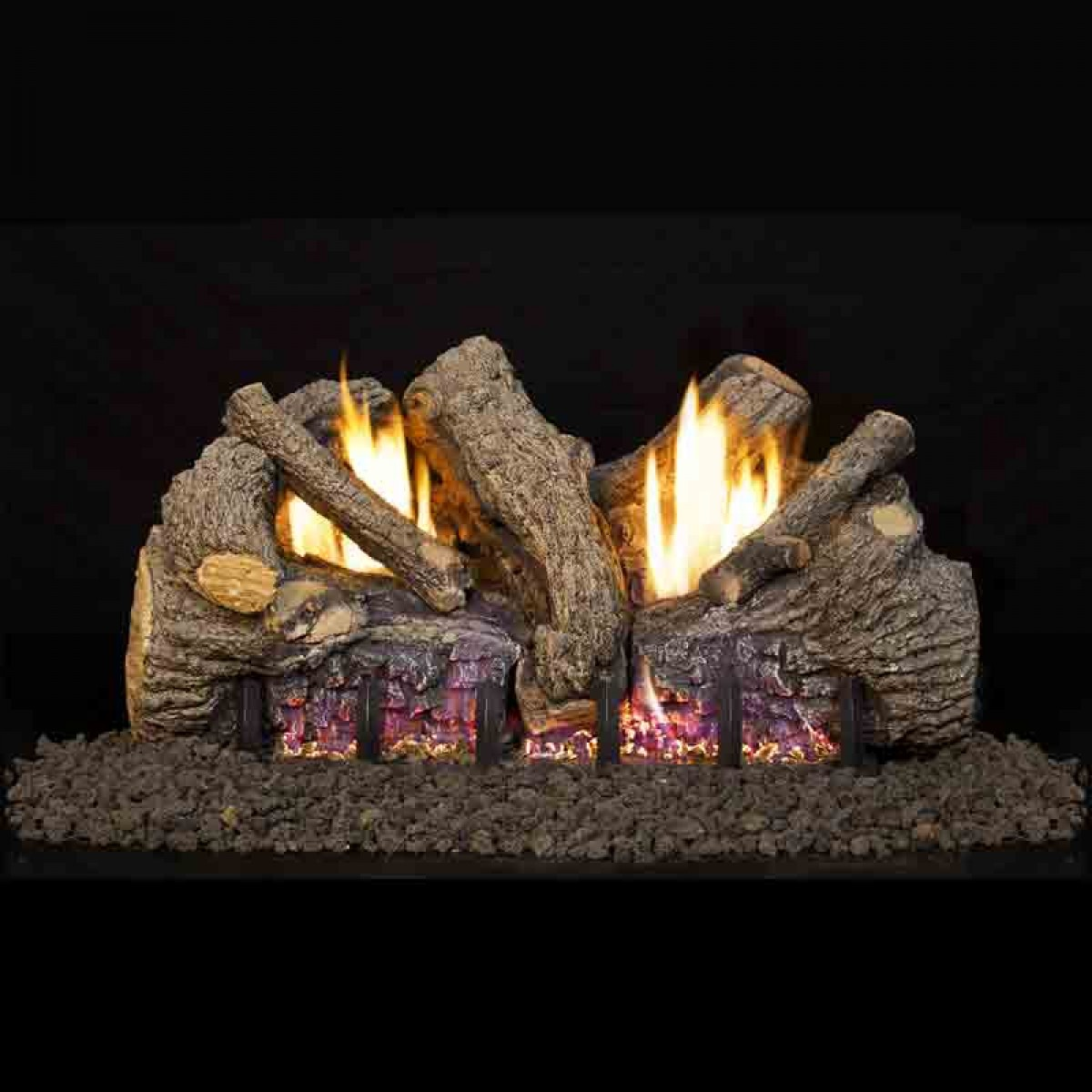 Real Fyre Foothill Oak Fto Vent Free Log Set