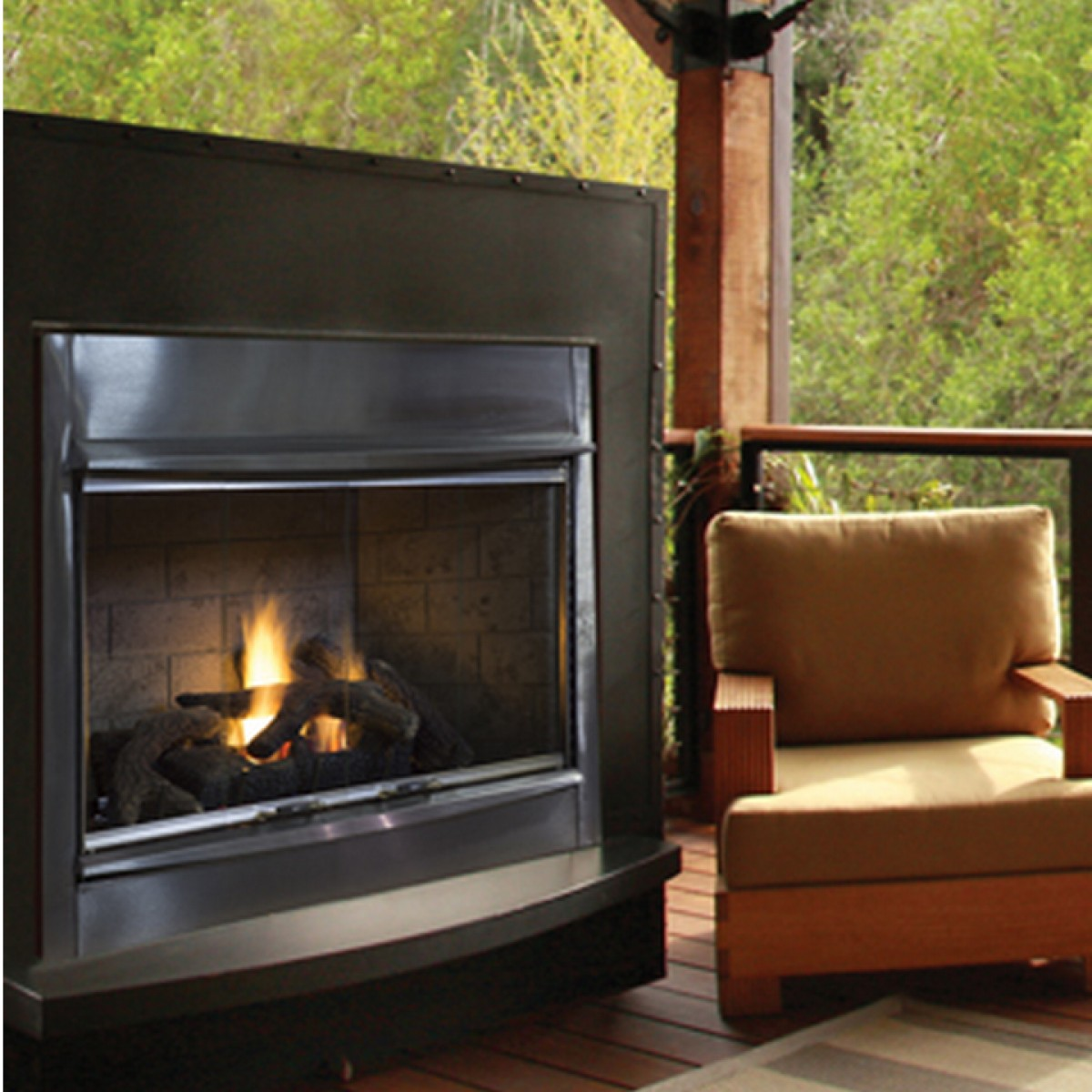 superior vre4300 vent free outdoor gas fireplace