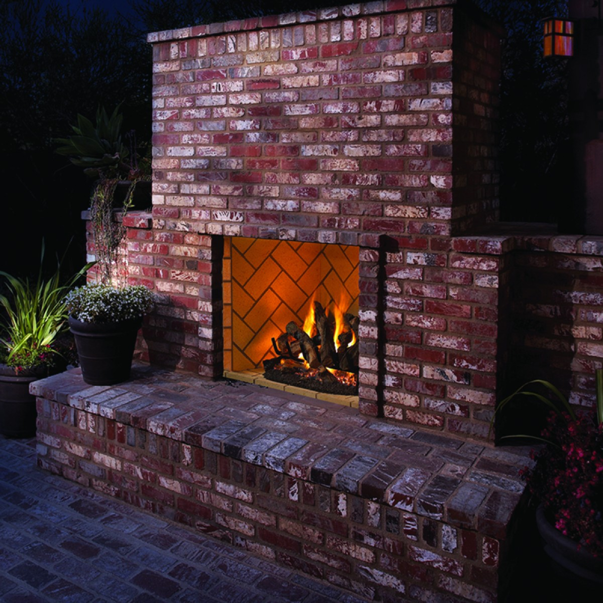 Awesome Exterior Gas Fireplace Ideas Decoration Design