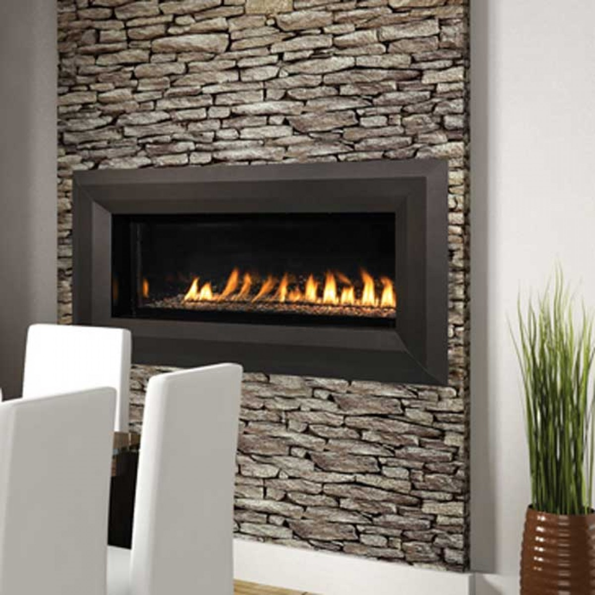superior vrl4543 linear vent free gas fireplace