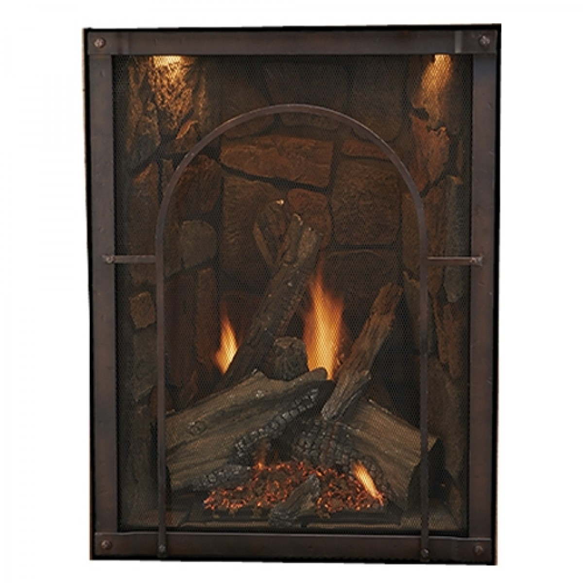 Empire Forest Hills Portrait Style Direct Vent Traditional Gas Fireplace