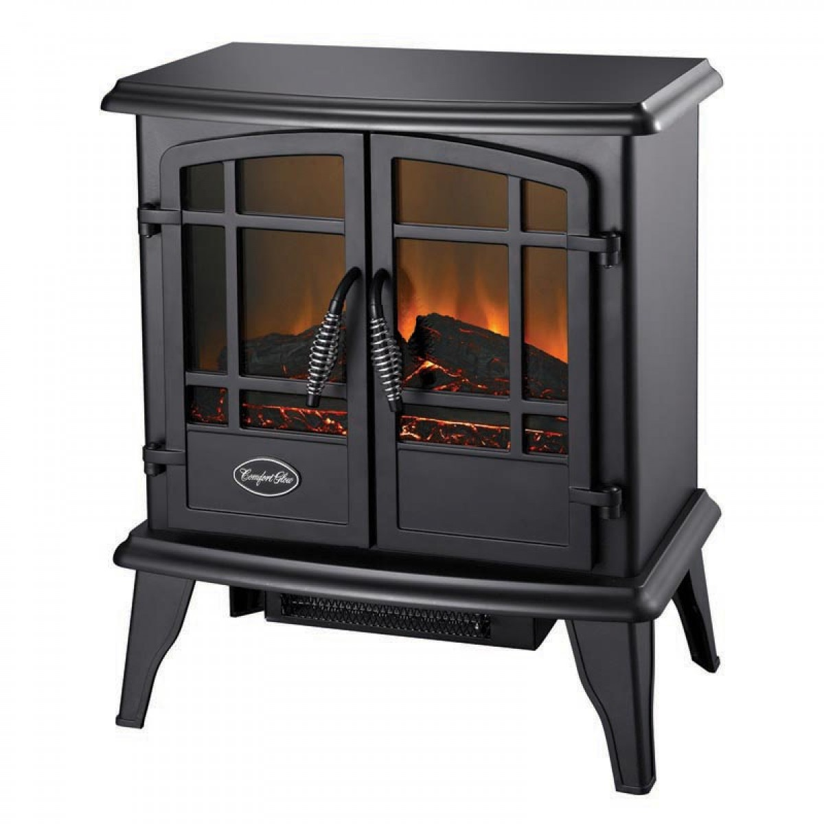 Black Electric Stove ~ The keystone es black electric wood stove