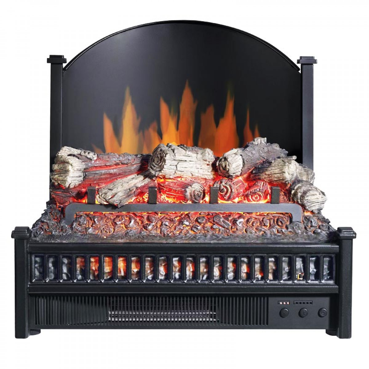 Pleasant hearth electric log insert with fireback li 24 - Firebacks for fireplaces ...