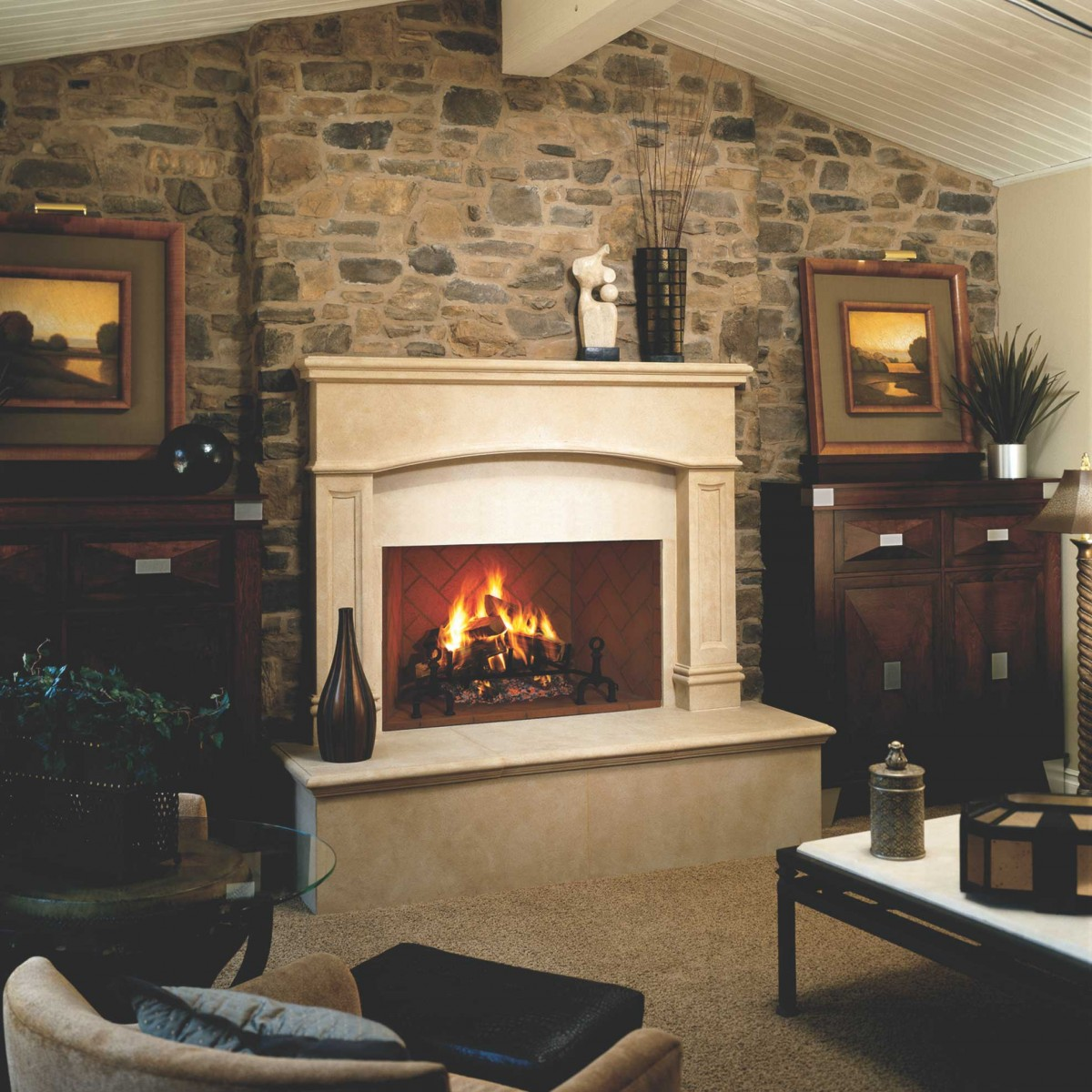 Superior wood burning fireplaces superior fmi tuscan for New construction wood burning fireplace