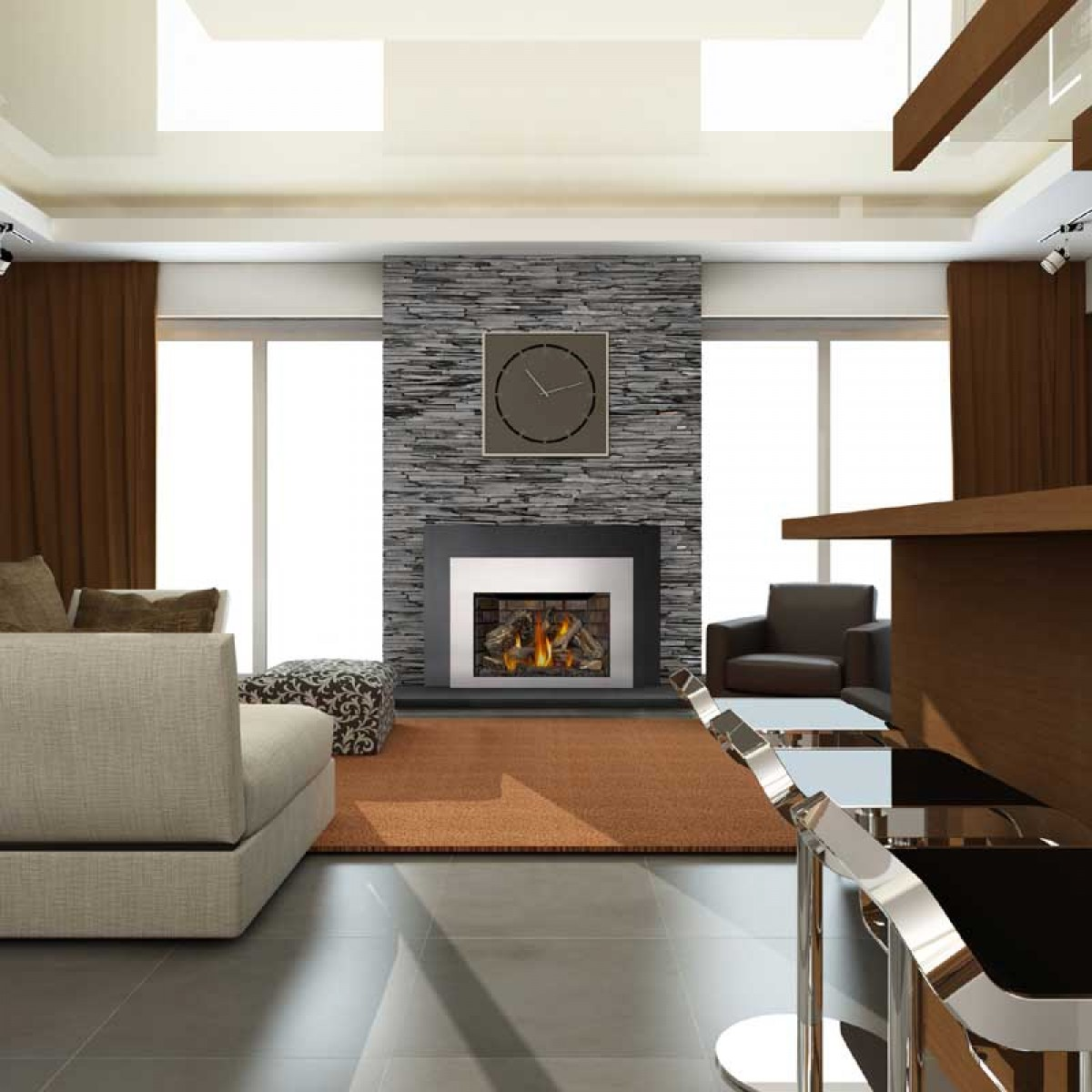 napoleon xir4n 1 large deluxe natural gas fireplace insert at