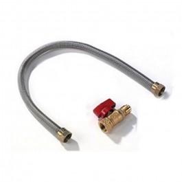 "Napoleon FC-12 12"" stainless steel gas flex connector & shut off"