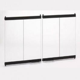 Majestic DM1736 Original Bi-fold Glass doors  Black w/ Black Track for 36