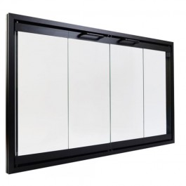 "Majestic GGD42BK 42"" Gasketed Black Cabinet Style Glass Door"