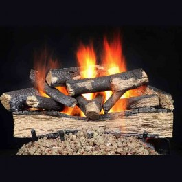 "Majestic 24"" Fireside Versawood refractory cement log set-FVW24"