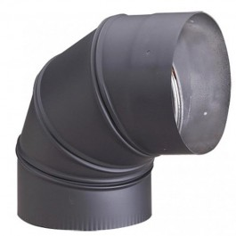 "Malm 7"" MATTE BLACK 90 Degree Elbow"