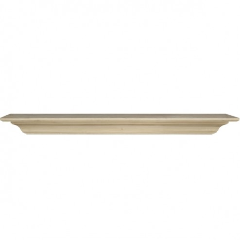 """Pearl Mantels 60"""" The Homestead Shelf Unfinished 418-60"""