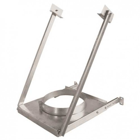 IHP Superior/Security Adjustable Wall Support 6'' Secure Temp -6SME