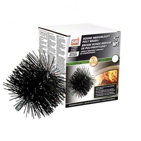 Osburn AC04502 8 in Round Brush With Polypropylene Bristles (3/8 in NPT)