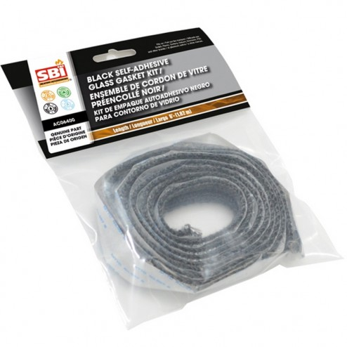 Osburn AC06400 3/4 in X 6 ft Black Self-Adhesive Glass Gasket